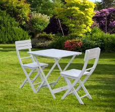 bentley garden wooden white bistro table and chairs sets