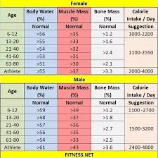 Healthy Muscle Mass Percentage Chart What Should Be The Muscle Mass And Fat Mass In A Healthy