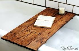 wooden bathtub diy pallet wood bathtub table tutorial at wood bathtub tray diy