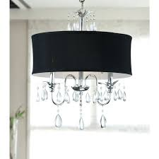 chrome 3 light black shade crystal chandelier black chandelier drum cover black drum shade pendant chandelier black drum lighting