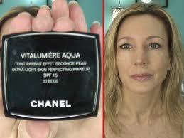 chanel vitalumiere aqua review application on skin