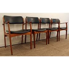 dining chair modern 4 black dining chairs new erik buch for o d mobler teak dining