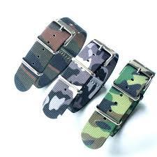 Finely woven NATO nylon strap <b>Camo</b> 18 20 22 <b>24MM Camouflage</b> ...