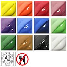 Speedball Underglaze Chart Amaco Velvet Underglaze Set 4 Set Of 12 Colors 2 Oz Jars