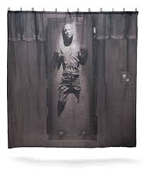 cool shower curtains for guys.  Cool Star Wars Han Solo In Carbonite Shower Curtain To Cool Curtains For Guys Modern Man