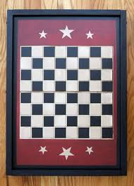 Old Wooden Game Boards Painted Vintage Wooden Checker Game Board With Three Stars On Each End 46