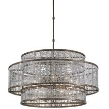 fantasia mercury glass chandelier tiered