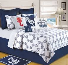 Knotty Buoy, handcrafted quilt, Anchor, Seahorses, Rope Design ... & Get ready to set sail with this nautical themed quilt ensemble Adamdwight.com