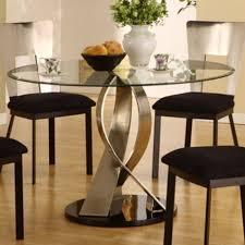nice glass round dining table  homeoofficeecom