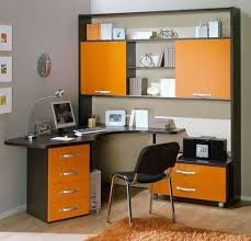 office orange. Modern Office Design In Orange Color Looks Cheerful, Unusual, And Bright