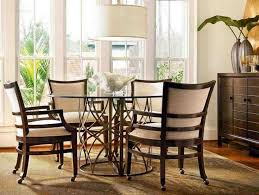 chairs on casters for dining table
