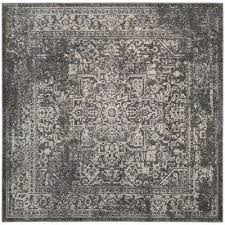 evoke gray ivory 7 ft x 7 ft square area rug