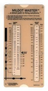 Mil Dot Chart Pdf Mildot Master Mildot Enterprises