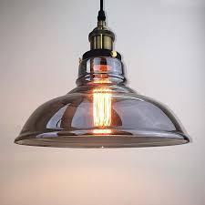 vintage grey glass pendant lights industrial antique ceiling lamp hanging retro