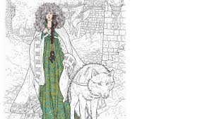 Game Of Thrones Coloring Book Finished Pages Sansa Stark 1