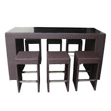 hightop tables walnut dining high top table and chairs  piece
