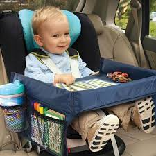 the kids portable play travel tray provides a sy surface for travel treats and toys