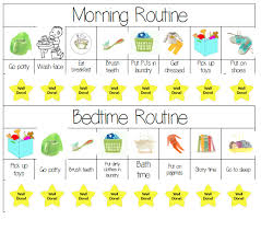 Kids Routine Chart Come Organize Plan And Print Some Cute Free Printables