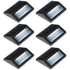 Outdoor Lighting Md Md Lighting Solar Deck Lights Outdoor 6 Pack Waterproof Led