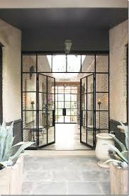 steel framed glass doors