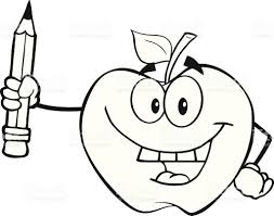 apple fruit black and white. apple - fruit, food, pencil, smiling. black and white fruit