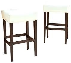 ivory leather bar stools ivory bar stools duff backless leather bar stools ivory set of 2