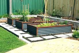 corrugated metal raised garden beds galvanized steel bed full image for