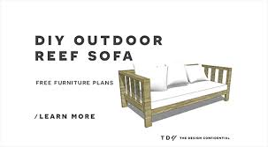 diy patio sofa plans. free diy furniture plans // how to build an outdoor reef sofa with modifications for cushions from target - the design confidential diy patio i