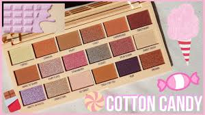 cotton candy chocolate palette review i heart revolution jessica rowlands