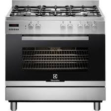 electrolux home products. stainless steel single cavity 90cm dual fuel range cooker, with 5 gas burners - including electrolux home products t