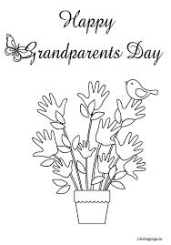 Happy Grandparents Day Coloring Page Grandparents Day Pinterest