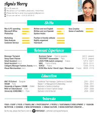 Mon Cv Here Is My Resume Foodlover Fashion Surf Business