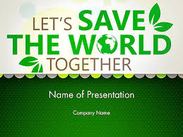 Save Nature Theme Free Presentation Template For Google