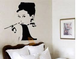 living room wall sticker cheap wall decal audrey hepburn breakfast at tiffany s wall decal on audrey hepburn breakfast at tiffanys wall art with audrey hepburn breakfast at tiffany s silhouette decoration wall