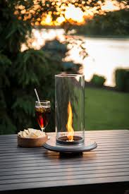 luxury cocktail fire pit the unique table top venturi flame fire pit brings ambiance and