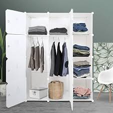 sturdy hanging closet organizer. Wonderful Closet ROKOO Clothes Closet Wardrobe Portable DIY Modular Cube Shelving System Storage  Organizer With Hanging Rod And  And Sturdy