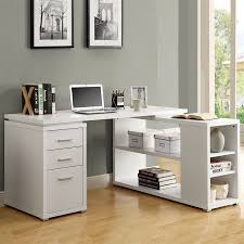 white l shaped desk. Exellent White Monarch Specialties Contemporary White LShaped Desk In L Shaped H