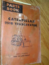 caterpillar 951 cat caterpillar 951b parts manual catalog book traxcavator track loader 79h1last
