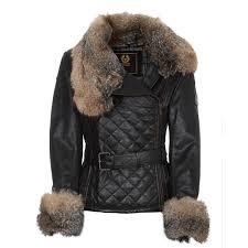 womens leather fur coats