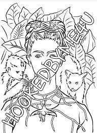 Kleurplaten Voor Volwassenen Volwassen Kleurboek Frida Etsy