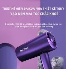Máy sấy tóc ion âm YOURS 1800W cao cấp, sấy khô nhanh, màu tím có 3 nấc sấy,  chế độ nóng + lạnh, gập nhỏ tiện lợi, bảo vệ tóc mượt, kèm