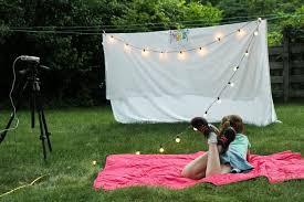 DIY Outdoor Movie Night from MomAdvice.com
