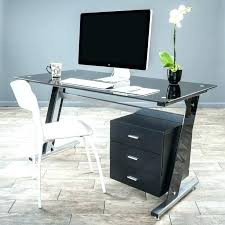 small glass top computer desk small glass desk genesis black glass computer desk cabinet drawers small