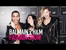 Balmain H M Size Chart Watch Balmain X H M Fashion Runway Show Full Hd Modtv