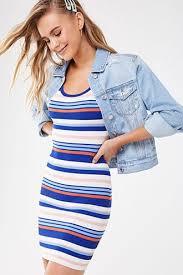 10 00 15 0034 off striped bodycon mini dress