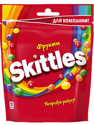 <b>Жевательные конфеты</b> в глазури <b>Skittles</b> Pouch Фрукты 165 гр ...