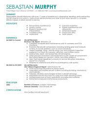 Mechanic Resume Template Classy Aircraft Maintenance Resume Template Mechanic Resume Template 40 Free