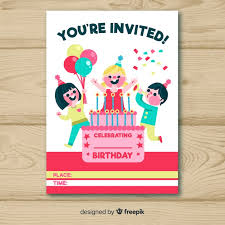 vector birthday invitation card design