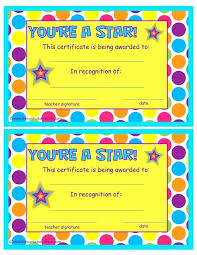 Star Of The Month Certificate Template Template Star Employee Of The Month Certificate Template Student