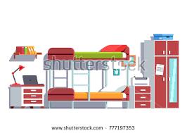 Free Bunk Bed Room Vector Illustration Download Free Vector Art